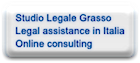 Studio Legale Grasso Legal assistance in Italia Online consulting