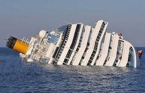 Семнадцати палубный корабль с 4234 пассажирами и членами экипажа на борту затонул