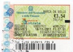 Ранее, гербовый сбор за выдачу справки (certificato) или заверение перевода в суде составлял 3,54 евро, сейчас тариф увеличился до 3,68 евро.